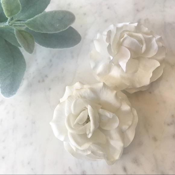Accessories silk white rose flower hair clips for wedding set silk white rose flower hair clips for wedding set mightylinksfo